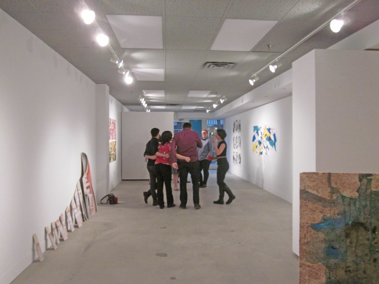gallery interior with people