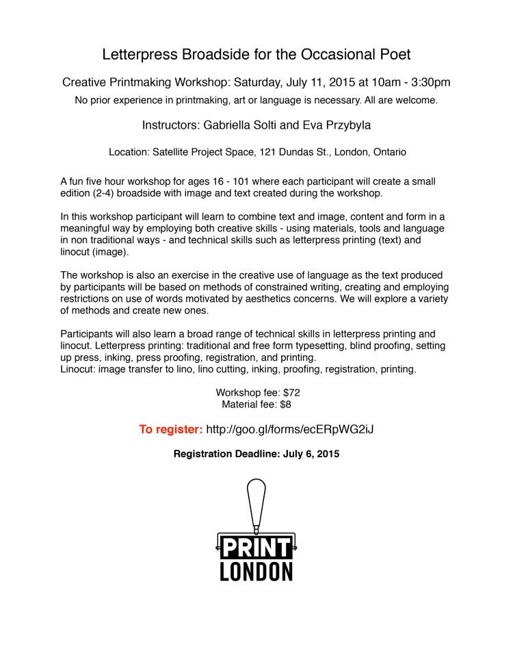 Letterpress Broadside Workshop-2 2