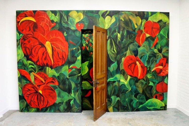 Jamelie Hassan, Wall with Door